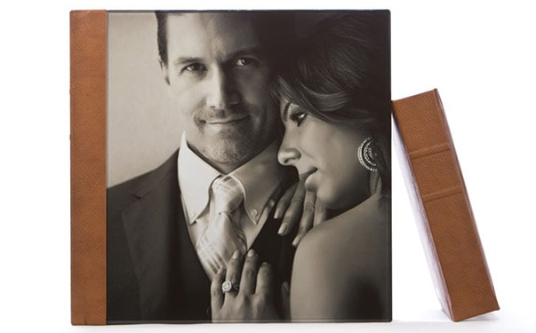 Fizara wedding photo album with acrylic cover