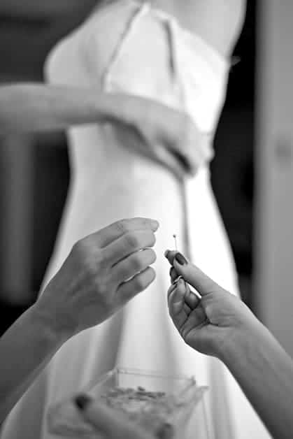 Make sure your wedding dress fits you perfectly