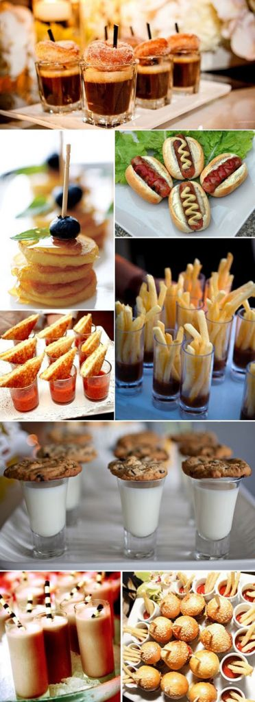 midnight snacks wedding reception ideas