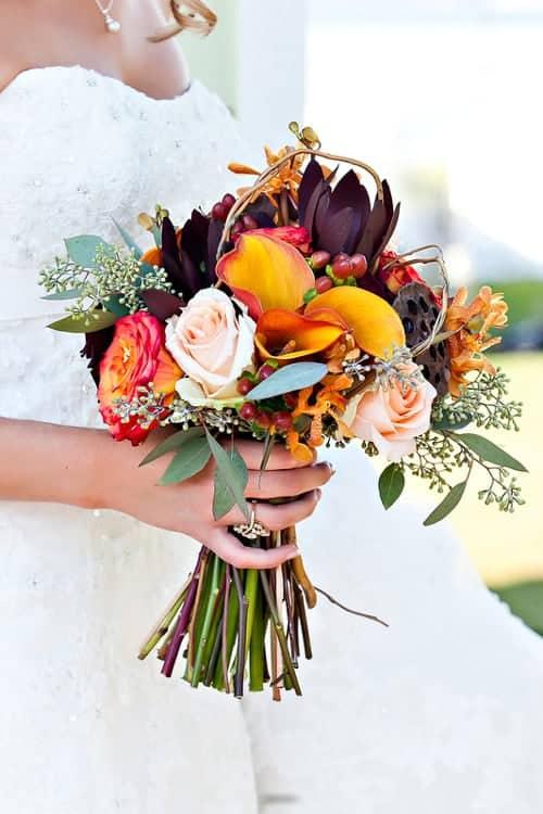 fall wedding flowers bouquet