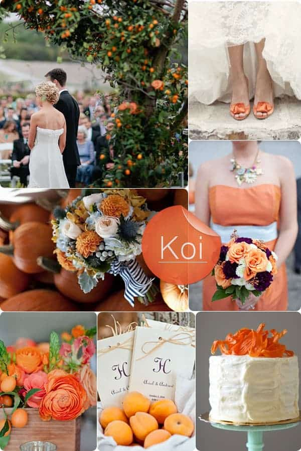 The advantages of having a fall wedding fizara koi orange fall wedding color trend ideas junglespirit Gallery