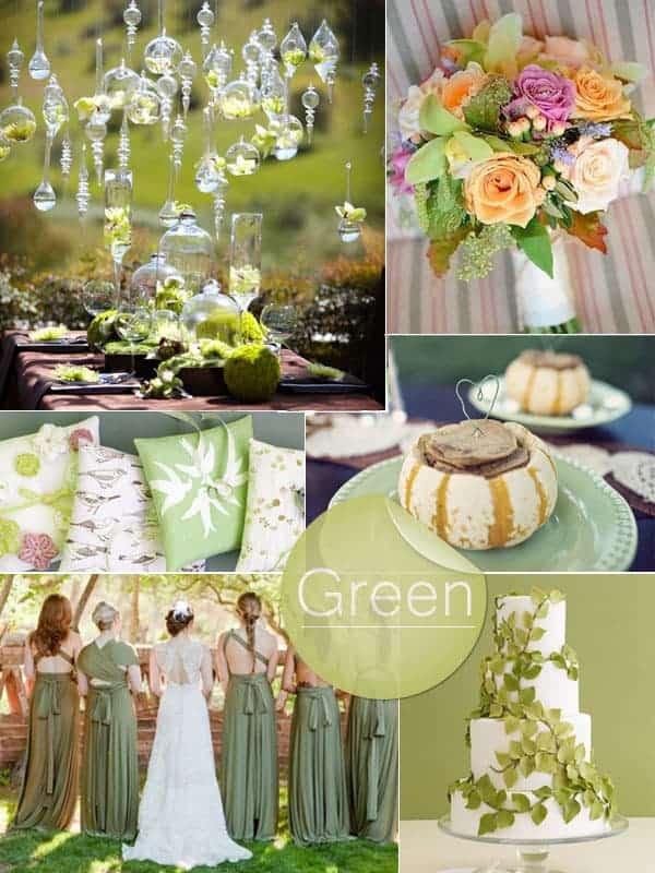 Linden Green 2013 Autumn Fall Wedding Color Ideas
