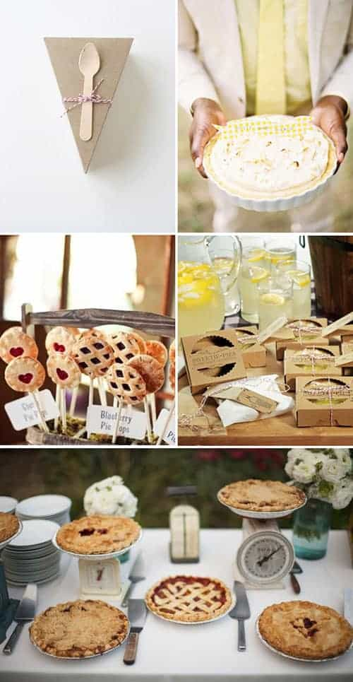 pies more whimsical than wedding cakes