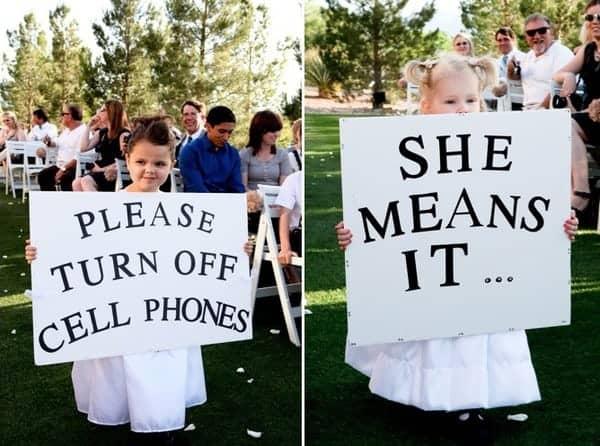 unplugged wedding ideas