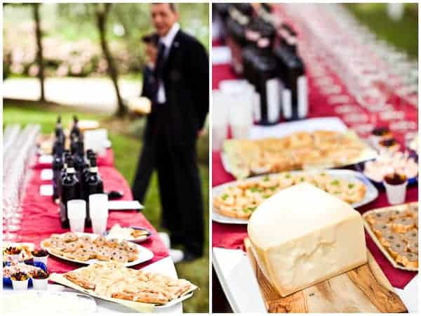 wedding wine and cheese tasting