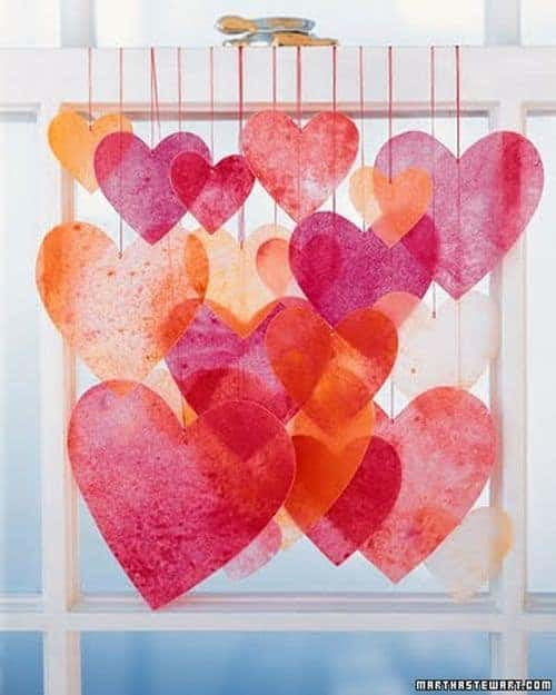 Crayon heart backdrop