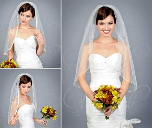 elbow-length wedding veil