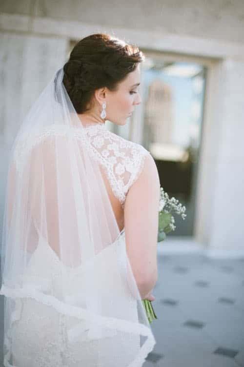 fingertip-length veil
