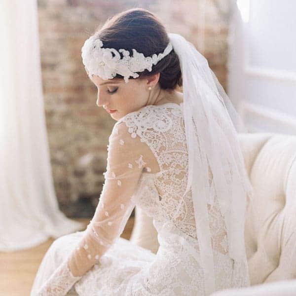 ribbon veil wedding veil alternative
