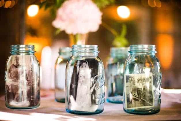 tribute table mason jar