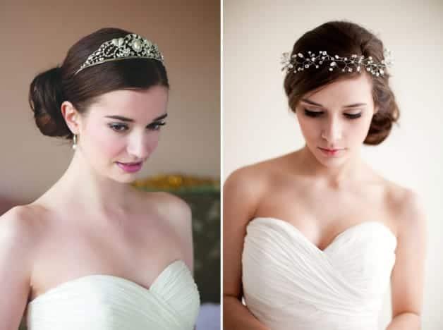 bridal tiaras encrusted with crystals