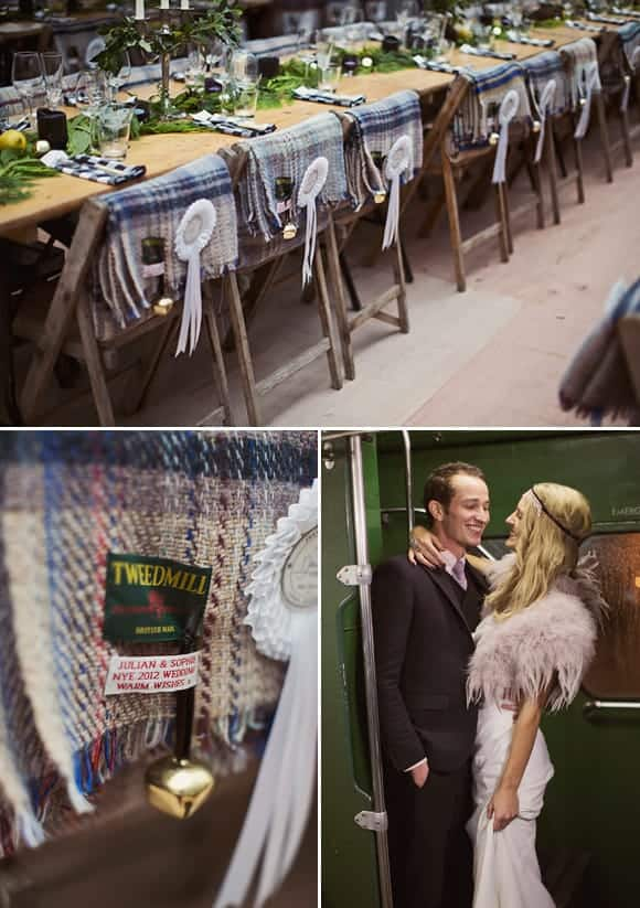 winter wedding ideas cozy wool blankets