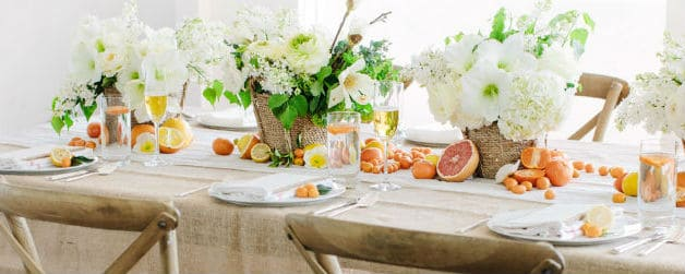 Wedding Reception Venue Tablescape