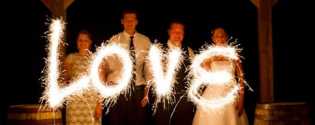 Sparklers Wedding Photography