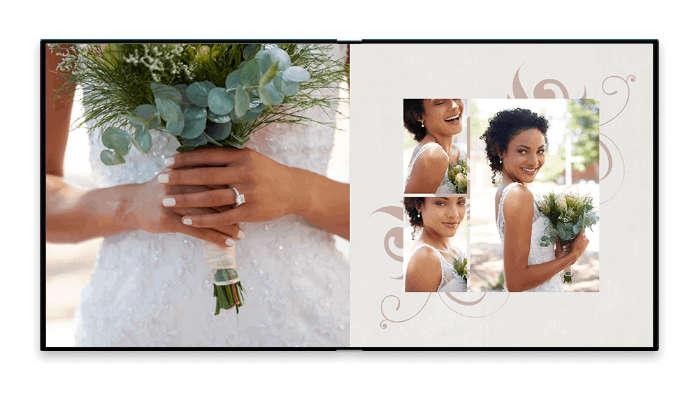 wedding album design service embellished style