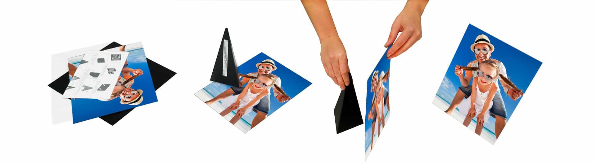 mini canvas photo prints assembly