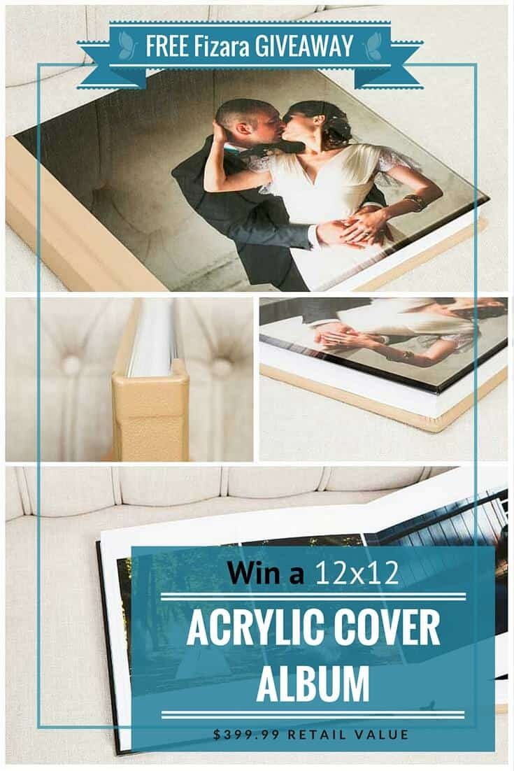 free photo album giveaway 12x12 acrylic cover wedding album pinterest