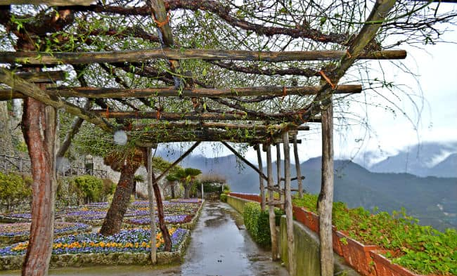 covered vien terrace in ravello italy by Eileen Cotter Wright