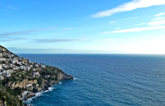 amalfi coastline in the sun by Eileen Cotter Wright