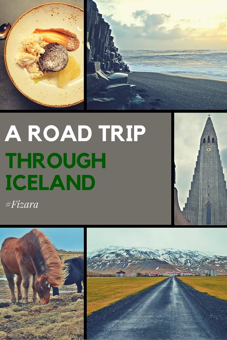 a road trip through Iceland photo collage