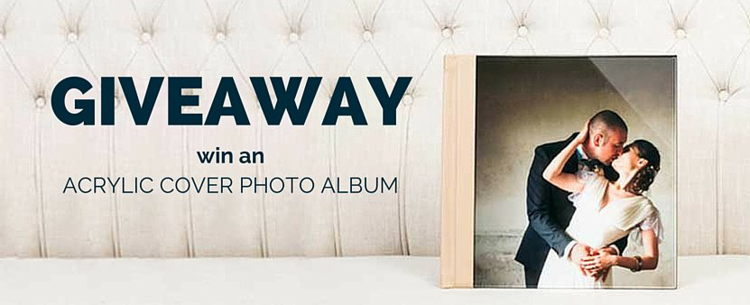 free wedding album giveaway 12x12 acrylic cover photo album