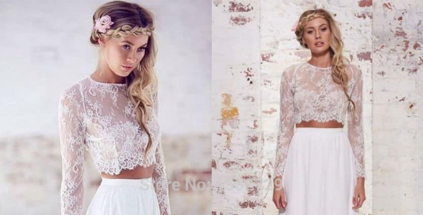 Wedding Dress Trends: The Two-Piece Knockout