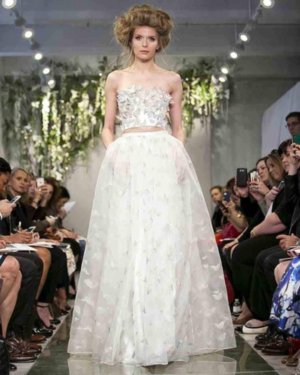 Two-piece wedding dress fashion show
