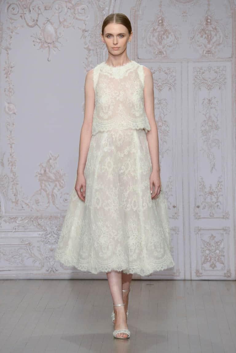 Two-piece wedding dress vintage