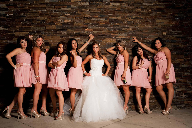bridesmaids looking bored funny by weddbook
