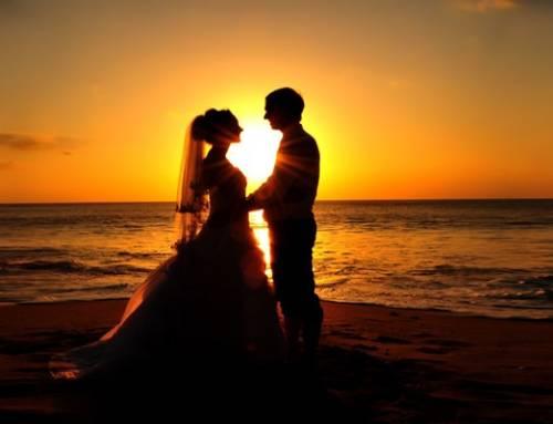 12 Beautiful Sunset Wedding Photos