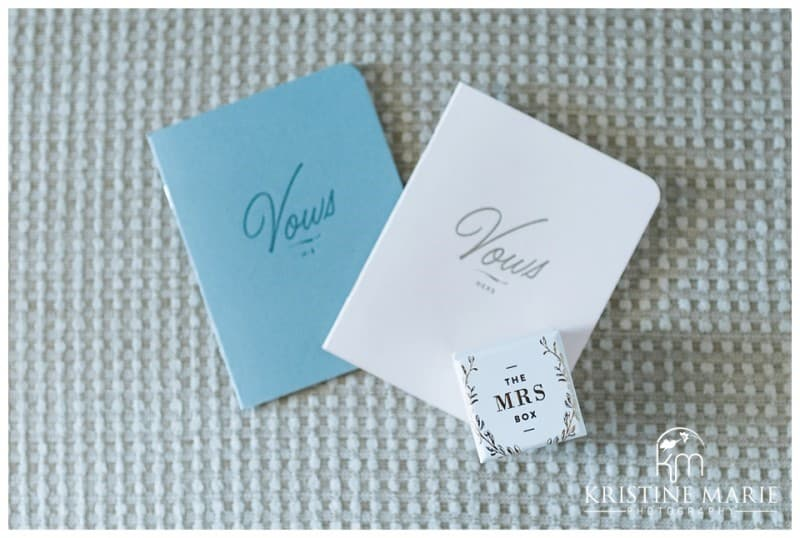 vow books blue and white