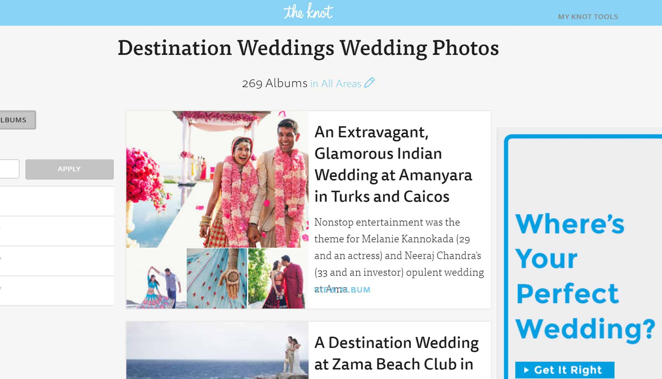 theknot blog banner page