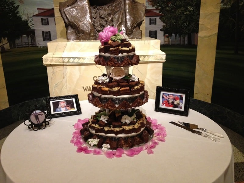 wedding wire brownies