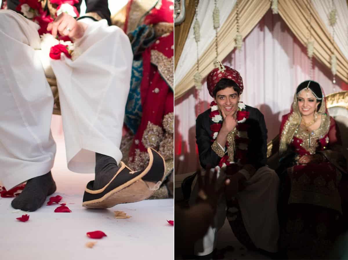 pakistani couple wedding haring