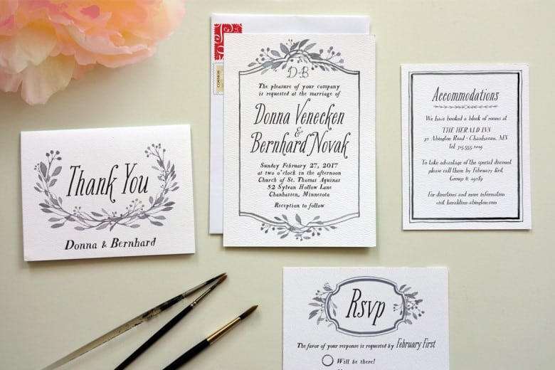 a practical wedding diy invitations for wedding