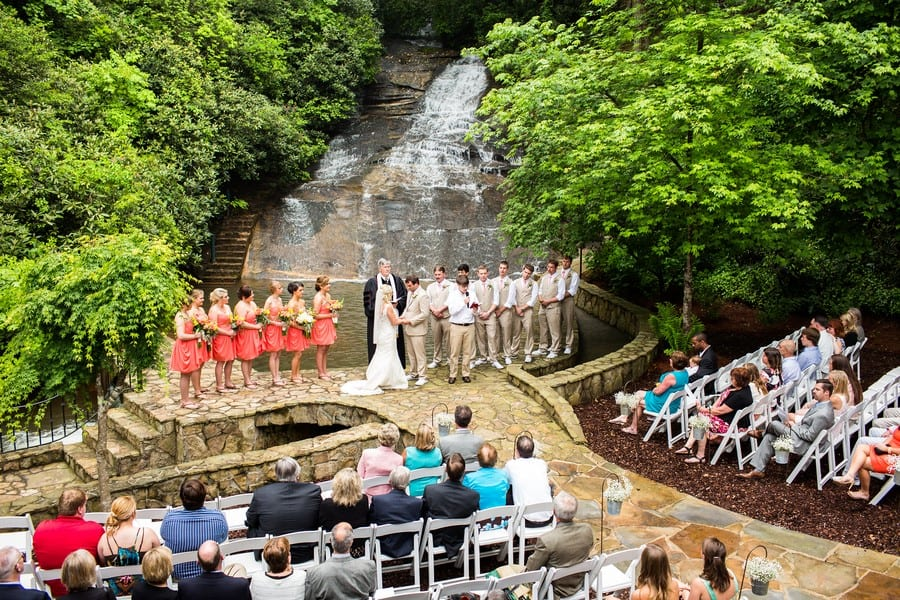cariad waterfall wedding