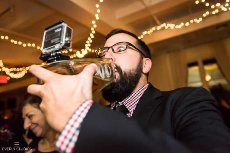 everly studios drinking bottle wedding gopro