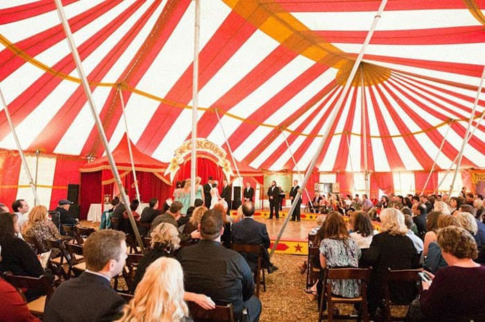 intimate weddings circus tent