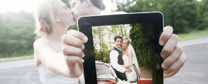 your big day on ipad wedding photo