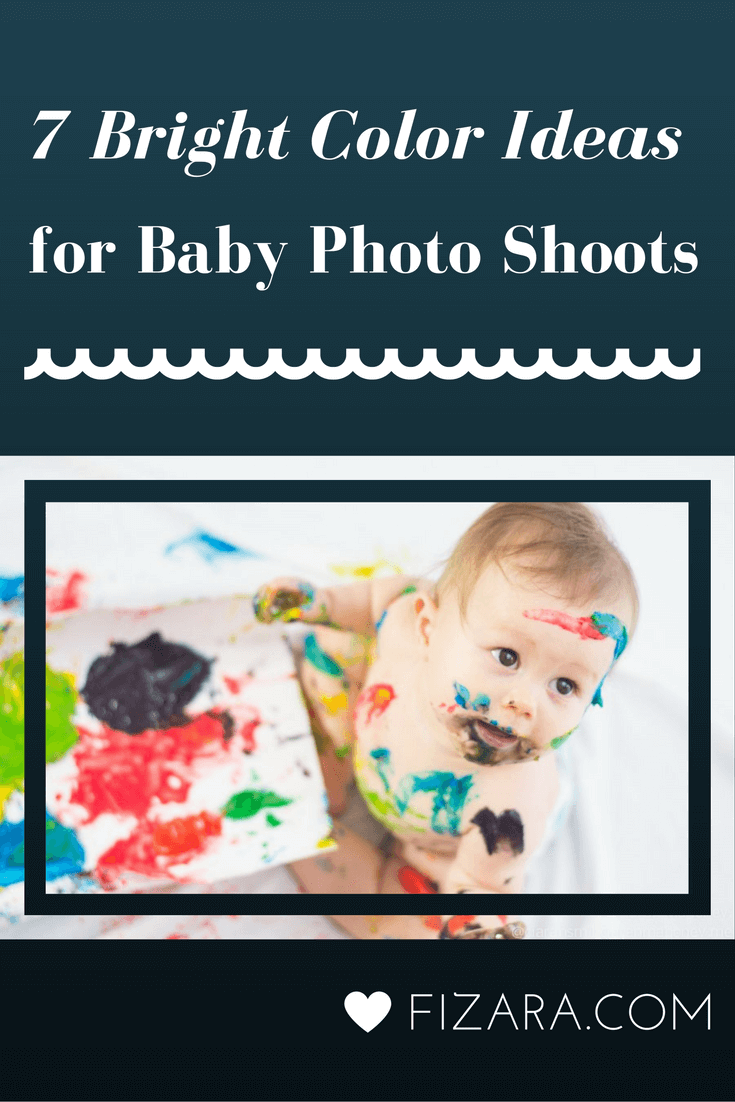 7 Bright Color Ideas baby photoshoots