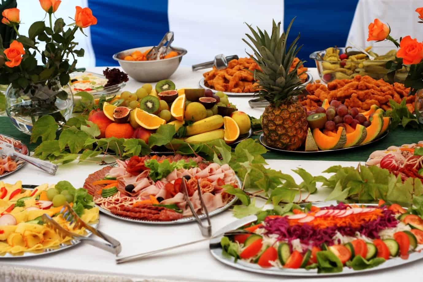 easy weddings buffet style