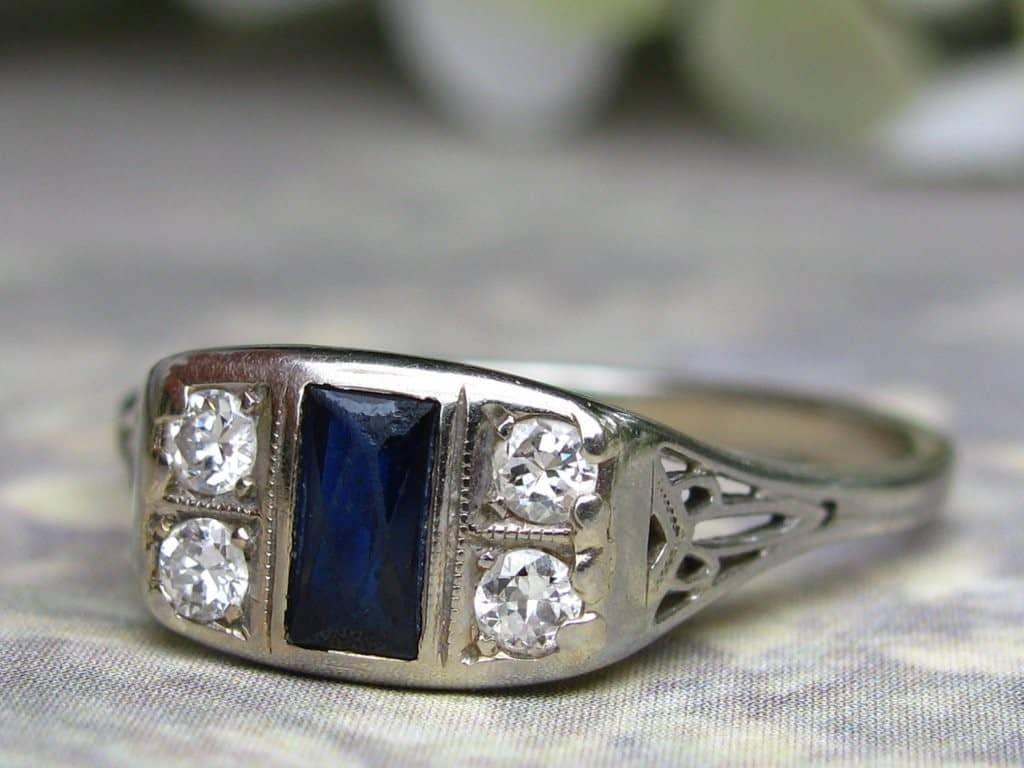 lady rose vintage engagement ring