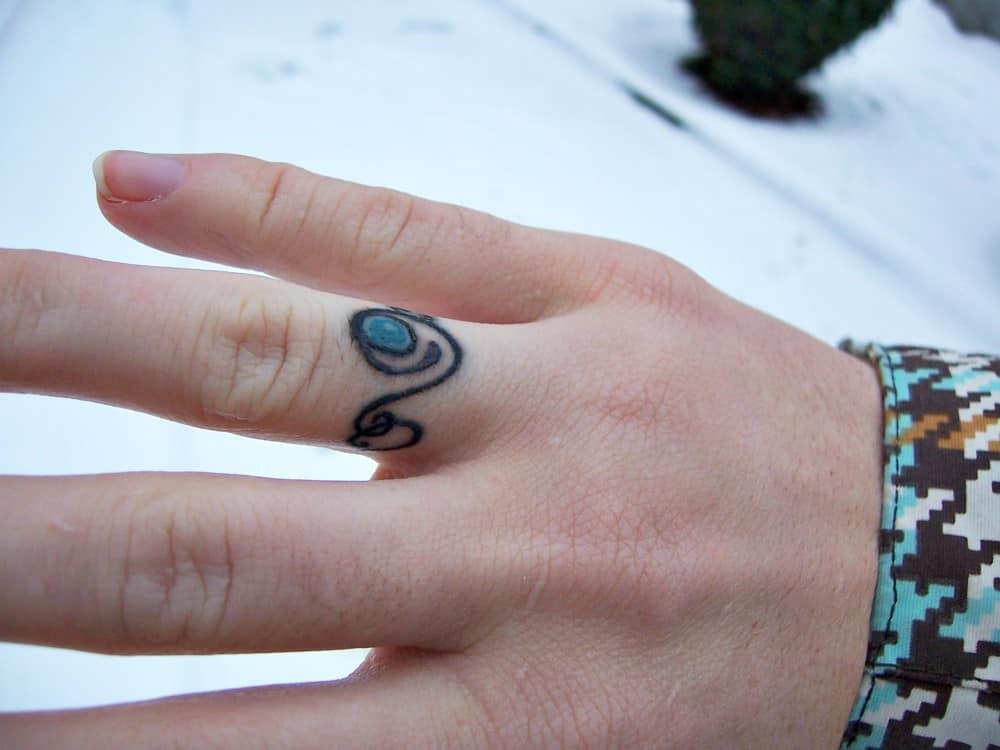 offbeat bride tattoo ring
