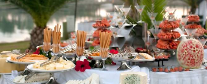 savory catering wedding food spread