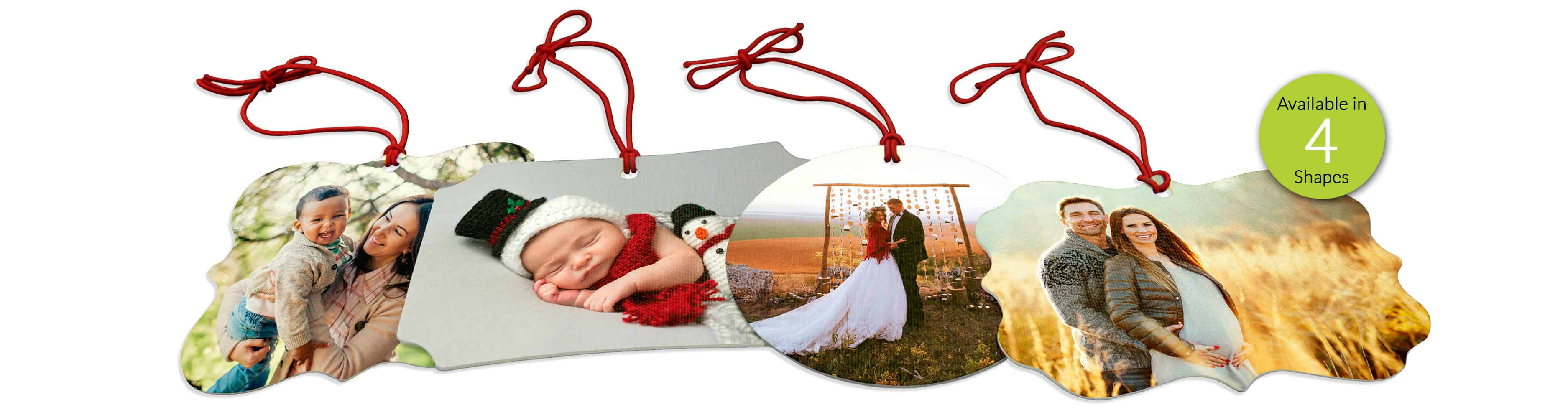canvas photo ornaments